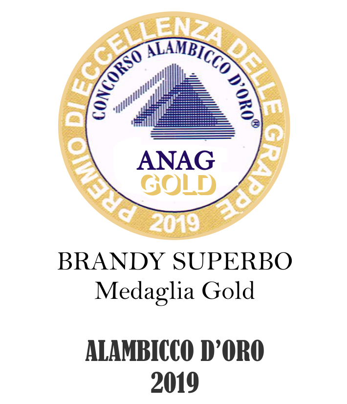 alambicco d'oro 2019 brandy superbo