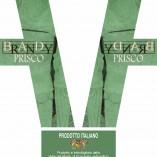 etichetta brandy italiano Prisco 50 cl
