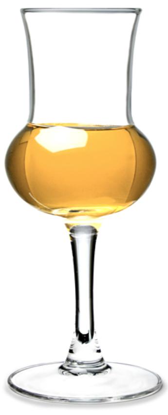 glass grappa aromatized