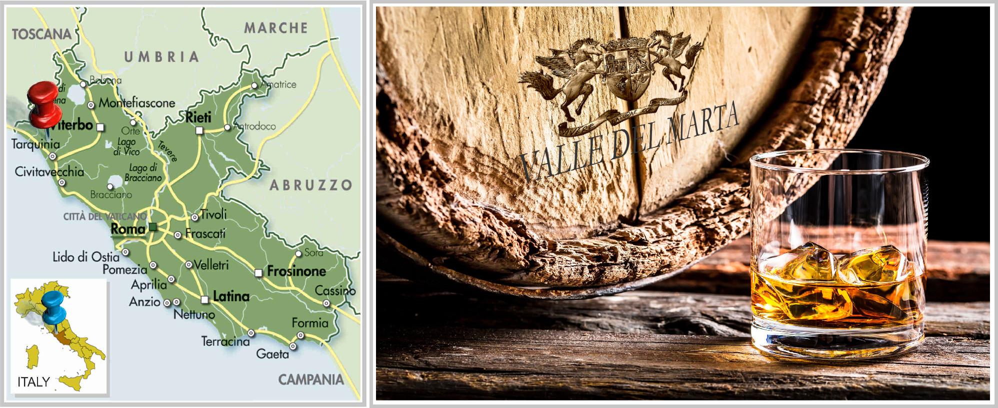 sfondo brandy italiano di Tarquinia
