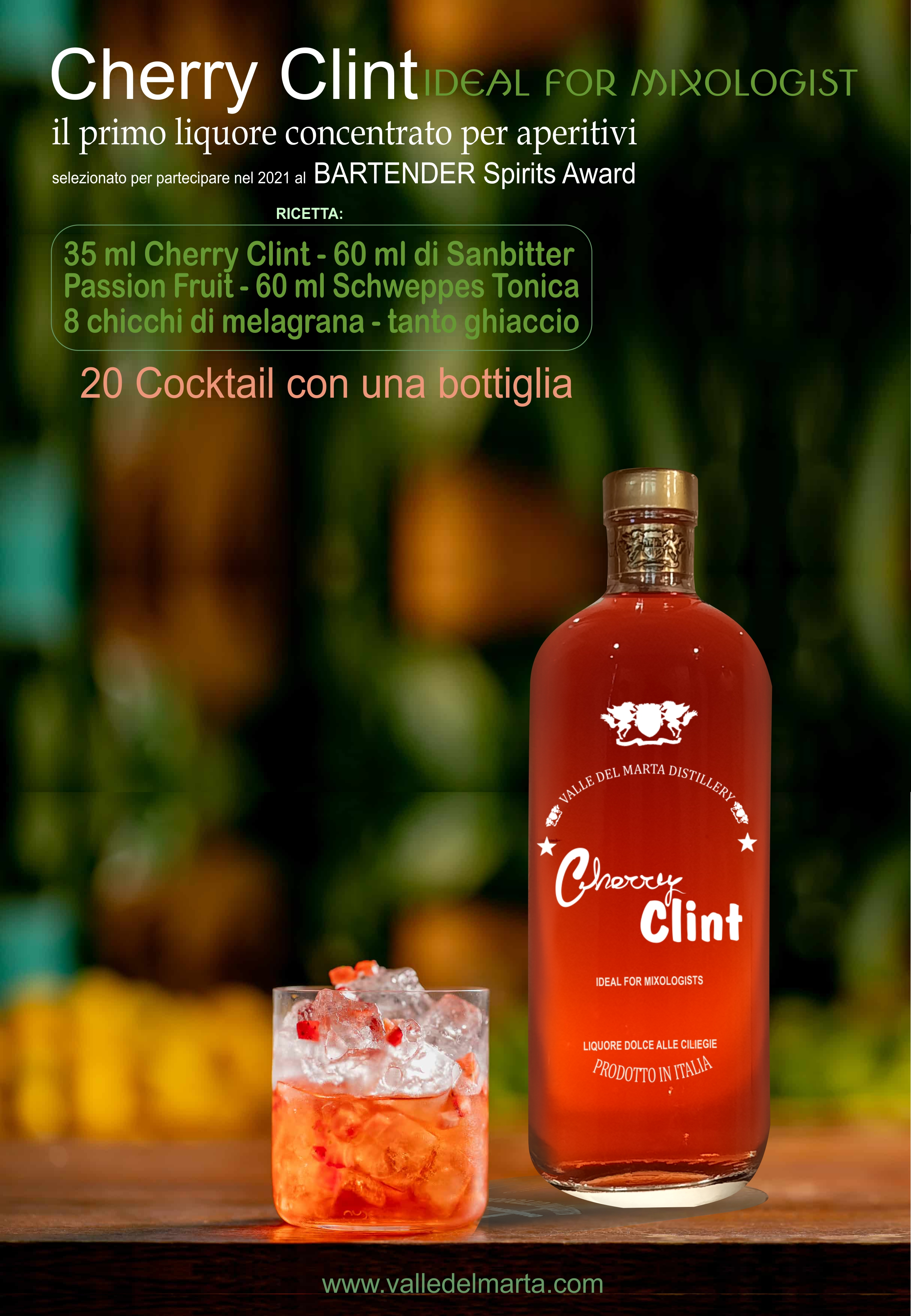 cherry clint passion fruit tonica schweppes tonica