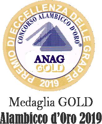 medaglia gold superbo alambicco d'oro 2019